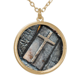 Cross of Protection Gold Plated Necklace