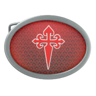 Cross of Saint James Oval Belt Buckle
