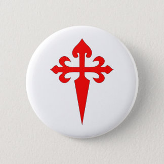 Cross Of Santiago 6 Cm Round Badge