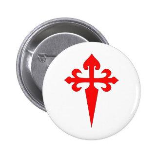 Cross Of Santiago 6 Cm Round Badge