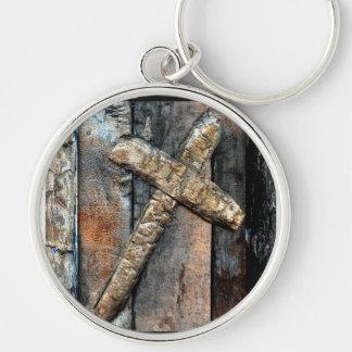 Cross of Strength Key Ring