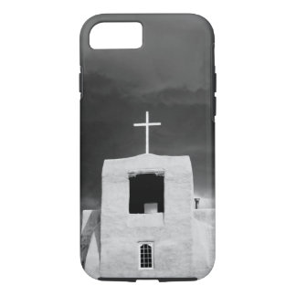 Cross on oldest church, San Miguel, Santa Fe, iPhone 8/7 Case
