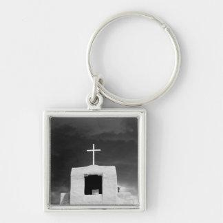 Cross on oldest church, San Miguel, Santa Fe, Key Ring