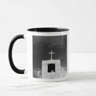 Cross on oldest church, San Miguel, Santa Fe, Mug
