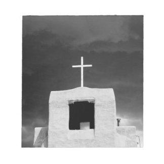 Cross on oldest church, San Miguel, Santa Fe, Notepad