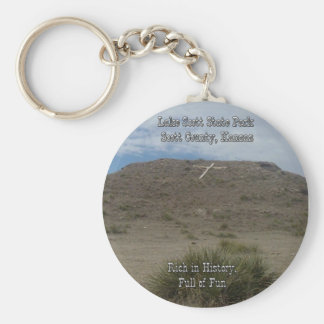Cross On The Hill-enlarged text Key Chain