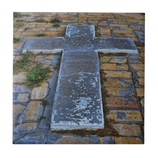 Cross on the Pathway to Death Ceramic Tiles