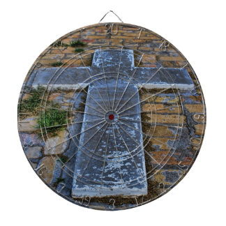 Cross on the Pathway to Death Dartboard With Darts