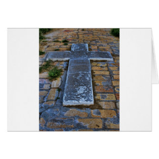Cross on the Pathway to Death Greeting Cards