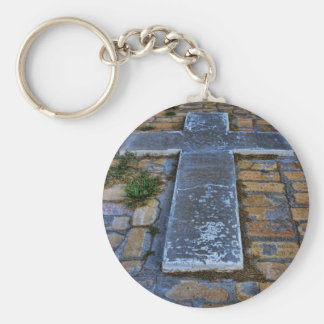 Cross on the Pathway to Death Keychains