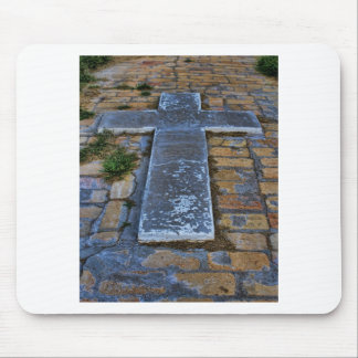 Cross on the Pathway to Death Mousepads
