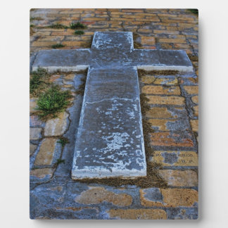 Cross on the Pathway to Death Plaque