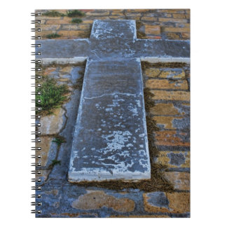 Cross on the Pathway to Death Spiral Notebooks