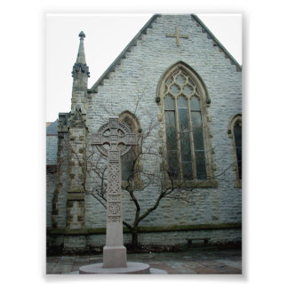Cross outside Unity Chapel in Buffalo New York Photo Art