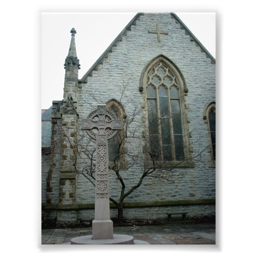 Cross outside Unity Chapel in Buffalo New York Photograph
