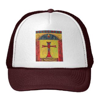 Cross over Snake Medieval Style Cross Design Trucker Hats