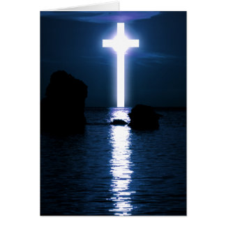 Cross Over Water Greeting Card