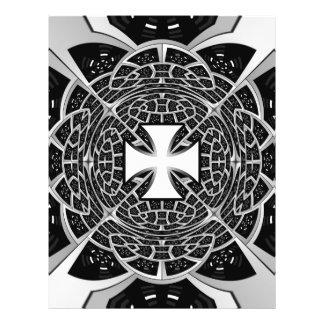 Cross pattée 21.5 cm x 28 cm flyer