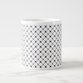 Cross Pattern Black and White Jumbo Mug