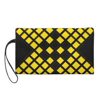 Cross Pattern Wristlet