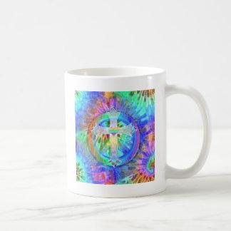 Cross, Peace Sign Coffee Mug