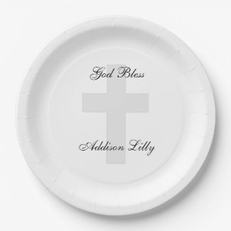 Cross Personalised Paper Plates
