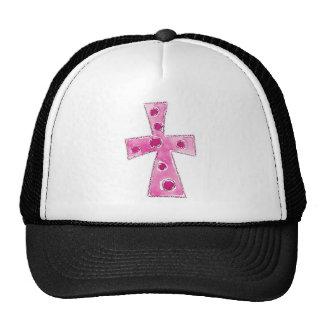 Cross Pink Polka Dots Cap