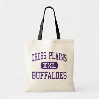 Cross Plains - Buffaloes - High - Cross Plains Budget Tote Bag