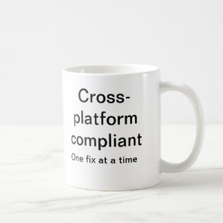 Cross platform compliant basic white mug