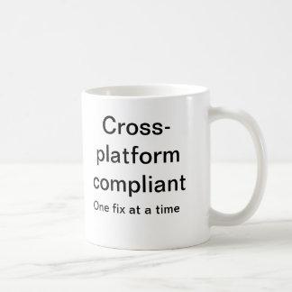 Cross platform compliant basic white mug