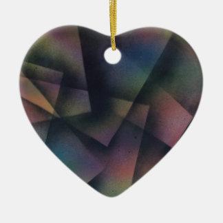 Cross pollinating paper ceramic heart decoration