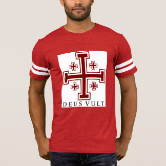 Cross Potent Deus Vult Men's Football T-Shirt