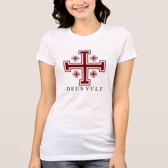 Cross Potent Deus Vult Women's Jersey T-Shirt