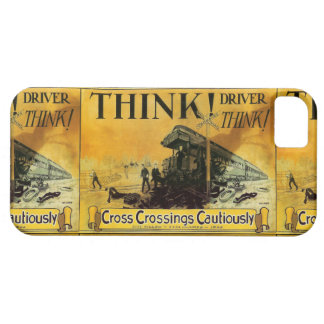 Cross Railroad Crossings Cautiously Case For The iPhone 5