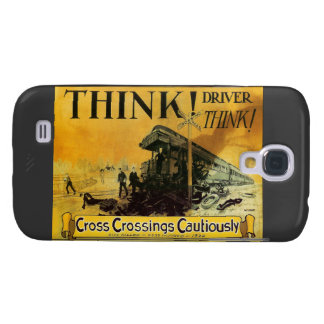 Cross Railroad Crossings Cautiously Galaxy S4 Case