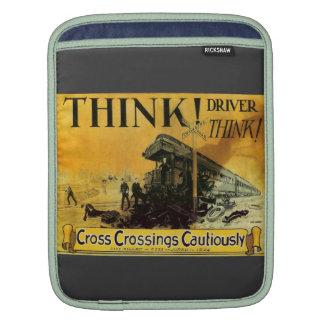 Cross Railroad Crossings Cautiously iPad Sleeves