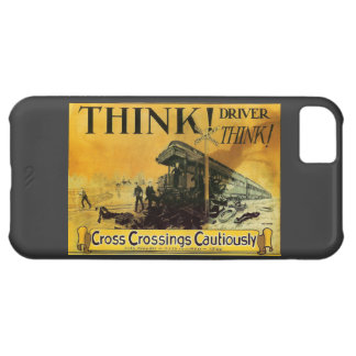 Cross Railroad Crossings Cautiously iPhone 5C Case