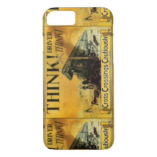 Cross Railroad Crossings Cautiously iPhone 7 Case