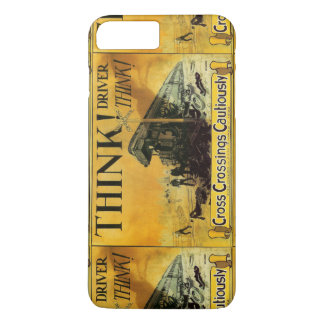 Cross Railroad Crossings Cautiously iPhone 7 Plus Case