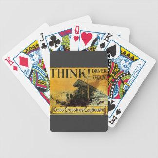 Cross Railroad Crossings Cautiously Card Decks