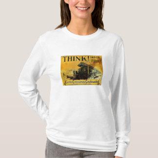 Cross Railroad Crossings Cautiously T-Shirt