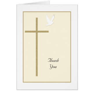 Cross Religious Christian Thank You Card