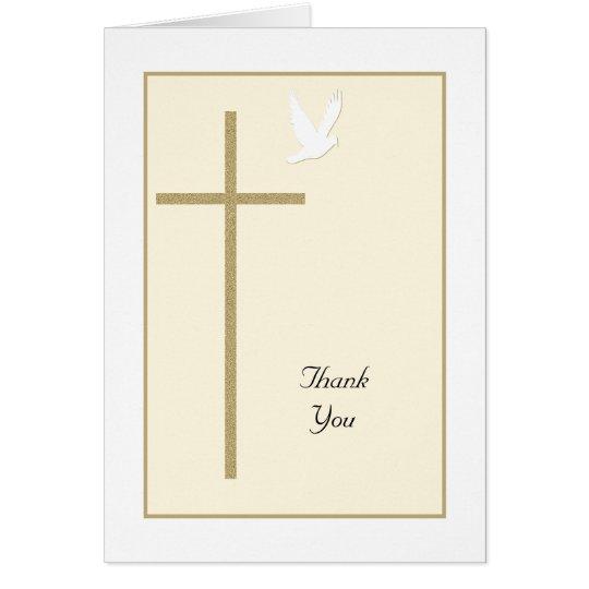 Cross Religious Christian Thank You Card