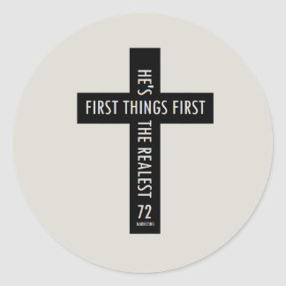 Cross Religious Sticker God Jesus First Thing