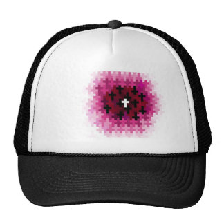 Cross Ripple Pink Mesh Hats