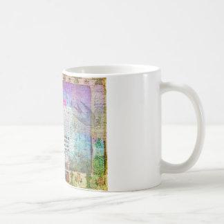 Cross, Scripture Art, Bible Verse Art Faith Based Basic White Mug