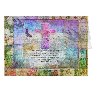 Cross, Scripture Art, Bible Verse Art Faith Based Greeting Card