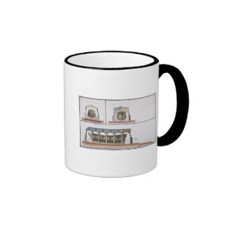 Cross-section and elevation of a ship, 1776 coffee mug