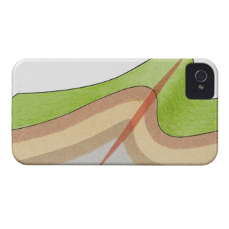 Cross-section illustration of a fold in the rock iPhone 4 cover