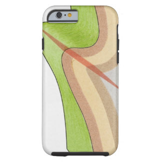 Cross-section illustration of a fold in the rock tough iPhone 6 case